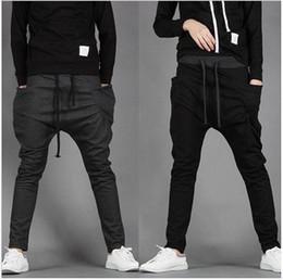 Wholesale Mens Dance Harem Sweatpants - New 2015 Mens Joggers Fashion Harem Pants Trousers Hip Hop Slim Fit Sweatpants Men for Jogging Dance 8 Colors sport pants M~XXL