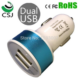 Wholesale Electronic Lighter Apple - Quick charge LED 2 USB Car Charger cigarette lighter for Mobile electronic devices any phone car Cargador de coche L9912 A5