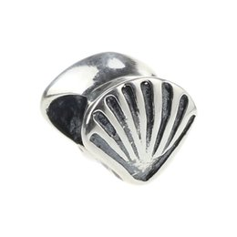 Wholesale Bracelet Seashells - Beads Hunter Jewelry Authentic 925 Sterling Silver Beach Vacation Seashell Charm jewelry big hole bead For 3mm European Bracelet snake chain