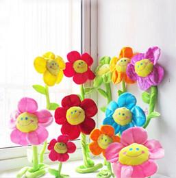 Blumen plüschtiere online-Plus-Tiere 35cm Special Toy Sonne Blume Hochzeit Geburtstagsgeschenk Plüschtiere Vorhänge Hauptlieferungsblumen und kreative Geschenke, Hochzeitsgeschenke