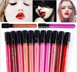 Wholesale Elegant Lipsticks - Waterproof Elegant Daily Color liquid Lipstick matte smooth lip stick lipgloss Long Lasting Sweet girl Lip lipstick to mouth 100pcs lot