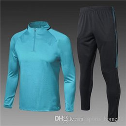 Wholesale Polyester Tracksuits Wholesale - VIP 20 17 18 Thailand quality tracksuits training suits sweater jersey soccer jersey real madrid messi jersey soccer jerseys tracksuit hdt
