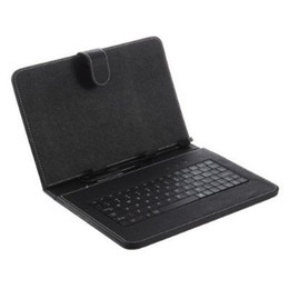 Funda universal de teclado con teclado USB Micro Funda de cuero con soporte para cable micro OTG para 7 8 9 10.1 pulgadas Android Tablet PC Media desde fabricantes