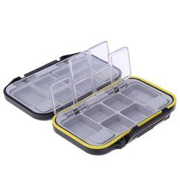 12 Compartimentos À Prova D 'Água Equipamento De Pesca Caixa De Armazenamento De Pesca De Plástico Ecológico Isca De Pesca Isca Enfrentar Durável caixa de Bolso Dos Peixes SACO de