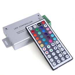 Wholesale Led Strip Common Anode - DC12-24V 24A RF Led Controller Aluminum with 44Key Remote Control for LED Strip Auto Memorizing Function Common anode Free shipping