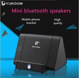 Wholesale Mp3 Resonance Speaker - The newest speakers wireless bluetooth speaker portable inductive resonance speaker universal mobile phone bracket subwoofers by DHL