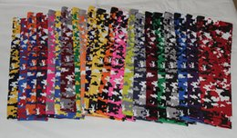 Wholesale Boys Size Camo - 10pcs Digital Camo Compression Sports Arm Sleeve Moisture Wicking 138 colors in stock 7pcs sizes