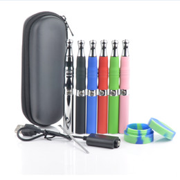 Wholesale Ego Wax Tank - Skillet dual ceramic coil Vaporizer dual coil Wax Tank Vaporizer Skillet Dry Herb Vaporizer Kits Atomizer with Ego-T battery pack by zipper