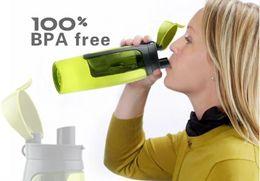 2019 бутылки с водой зеленого цвета 750green / серый 2015 творческий горный бутылка воды, высокое качество Pctg бумажник бутылка воды BPA бесплатно пластиковые открытый бутылка воды