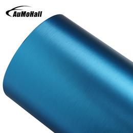 "Wholesale Vinyl 24 - Exterior Accessories Stickers AuMoHall 60*152cm DIY PVC Vinyl Wrap Roll Blue Car Stickers with Air Bubble Free Car Accessories 24""x60"""