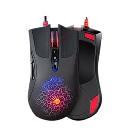 Wholesale Gaming Mouse Lights - Wholesale- 100% JM original A4tech bloody A90 light strike micro switch professional gaming mouse LOL CF colorful game mice free shipping
