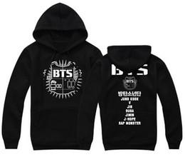 Kpop homens s casacos on-line-Atacado-Black Red Grey outono e inverno BTS bangtan meninos homens e mulheres kpop casaco jaqueta kpopbts cartaz bts álbum bts hoodie