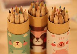 Wholesale Normal Pencil - Secret Garden Coloring Pencils Enchanted Forest Painting Pens Colored Pencils Creative Writing Tools 12 colors Colouring Pencils