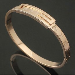 Wholesale Fine Jewelry Sets - High Quality Pulseras Tousingly Cuff Bangle 18k gold plated Bracelet Stainless Steel Fine Jewelry For Women Man bangle jewelry