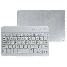 Wholesale Tab Keyboard Aluminum Cases - Best Promotion Ultra Slim Multimedia Aluminum Wireless Bluetooth Keyboard For IOS Android PC For Windows For Ipad Air 3 Mini 2