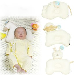 Wholesale wholesale linen rolls - Wholesale- Baby Pillow Elephant Shape Baby Newborn Cotton Pillows Infant Anti Roll Pillow Baby Pillows Sleep Nursing Newborn Babies Linen