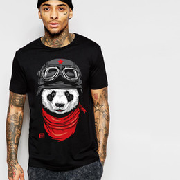 Wholesale panda tee shirts - 2XL-8XL Large Size Fat Men T Shirt Tee Cotton Men Solid Panda Printed T Shirts Men's T Shirt Tees Tops