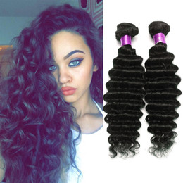 thick brazilian virgin hair Promo Codes - 8A unprocessed deep wave Brazilian hair extensions, 8 -32 inch Brazilian deep wave virgin hair bundle deals, thick deep wave virgin hair