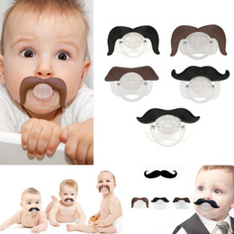 Wholesale Pacifier Baby Free Shipping - Safe Quality Baby Funny Pacifier Mustache Pacifier Infant Soother Gentleman bpa Baby Feeding Products free shipping