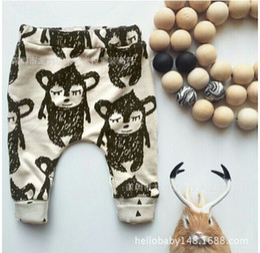 Wholesale Kids Pants Trouser Monkey - Baby Boys Pants Monkey Printed Baby Harem Pants For Boy Kids Children Trousers Cotton Clothes free shipping