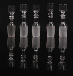 Wholesale Cheap Nails Free Shipping - 2015 Cheap Smoking Accessories Male Female 14.4mm and 18.8mm Oil Ring Glass Pipe With Dome Nail Bongs Water Pipes Free Shipping