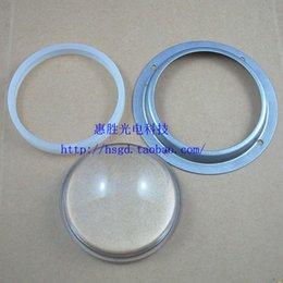 Wholesale Concave Glass Lens - Wholesale-2SET lot 78mm Glass Inward Concave Lens + Waterproof Circle + Metal Rack