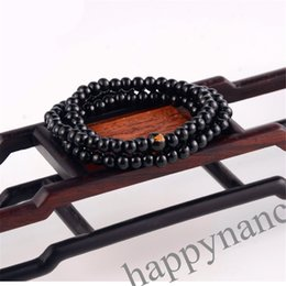 Wholesale 6mm Rope Chain - 1pcs ON SALE HOT108 Sandalwood Buddhist Buddha Meditation 6mm Prayer Bead Mala Bracelet Necklace