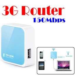 Wholesale Tp Link 3g Wifi Router - by dhl or ems 10 pieces Mini TP-LINK TL-WR703N 150Mbps Wireless 3G Router external WR703N IEEE802.11b g n wifi