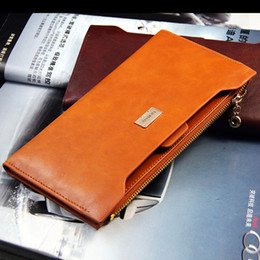 Wholesale Korean Fashion Dresses For Women - Classical trade card holder case women wallets brand leather designer long clutch wallet for women free shipping