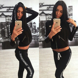 Wholesale Womens Long Length Shirts - Hot Sale pink Women's Tracksuits spring style sweat shirt Print tracksuit women Long Pants Pullover Tops Womens set Women Sport Suits