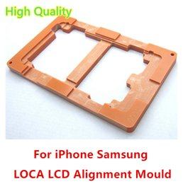 Wholesale Lcd Glass Mould - For iPhone6 Samsung S3 S4 S5 S6 S6 LCD Outer Glass UV Glue Wooden Alignment Mould Molds 2pcs lot free shipping