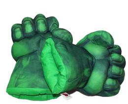 "Wholesale Incredible Hulk Comics - 1pair Plush The Incredible Hulk Gloves 11"" Superhero Figure Hulk Toys Children Christmas Kids Toy Free Shipping"