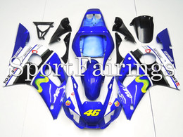 Wholesale Yzf Cowling - Fairings For Yamaha YZF600 R6 YZF-R6 Year 1998 2002 98 99 00 01 02 ABS Motorcycle Fairing Kit Bodywork Motorbike Cowling Movistar Vale 46
