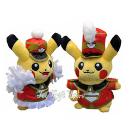"Wholesale Good Mascots - Free Shipping New Pikachu Cheerleader Conductor 5.5"" Plush Carnival Mascot Doll Toy Good For Gift"
