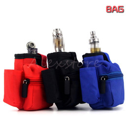 Wholesale Bottle Holder Bag - Carry Pouch Bag Carring Box Case Cloth Pocket with Hook Zipper Necklace Lanyard Holder 3 Colors for Box mod Rda Eliquid bottle DHL