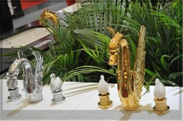 Wholesale Swan Waterfall Faucet - Wholesale-Gold finish PVD bathroom glass handes swan waterfall BATHTUB faucet emergi