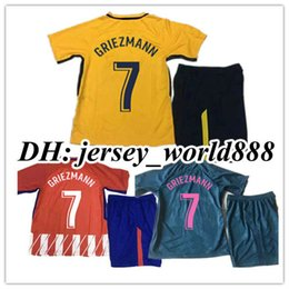 Wholesale Customs Children - 17 18 kids GRIEZMANN KOKE GABI soccer jersey Kits Fernando HOME away 3rd RED F TORRES AWAY GODIN CUSTOM CARRASCO SAUL child Football shirts