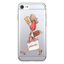 Wholesale Iphone Book Cases - Shaka Laka Read a book Phone Shell Clear fashion beauty Case For iPhone 6 6S 5.0in 6Plus 7 7plus 8 8s plus Soft TPU silicone back Cover