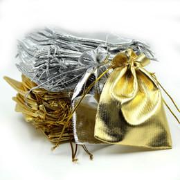 2019 weihnachtsgewebe billig Neue 5 größen Mode Vergoldet Gaze Satin Schmuckbeutel Schmuck Weihnachtsgeschenk Beutel 7X9 cm 9x12 cm 10x15 cm 13x18 cm 16x23 cm