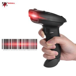 Wholesale Barcode Scanner For Android - Wholesale- RADALL RD-300 Barcode Scanner Wireless Bluetooth USB 1D Code Barcode Scanner Reader Portable Scanner Film for Android IOS System