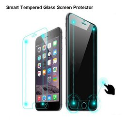 Wholesale Hd Mirror Screen Protector - Cell Phone Screen Protectors Smart Dual Touch Tempered HD Glass Screen Protector 0.2mm 9H 2.5D For iPhone 6 iPhone6 Plus With Retail Box