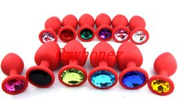 Wholesale Silicon Women Sex Men Toy - Chastity Devices New Red Color Luxury Silicon Anal Sex Toys Butt Plug,Anal Toys Sex Toys for Women Men, 3 Size to choose , SM007