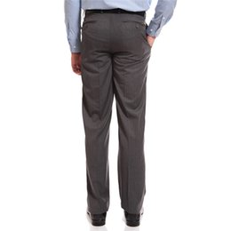 Wholesale Field Pants - Wholesale-PRESTON FIELD Brand Men Suit Pants Mens Dress Pants Formal Suit Trousers Vertical Stripes Casual Brand Business Straight Pants