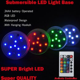 Wholesale Party Supplies Submersible Light Remote - RGB Multi colors Remote control Submersible LED Gadget light, LED vases base light for wedding Party celebration Supplies