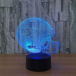 2019 construir panel de luz led Acrílico Panel de luz 3D LED Luz nocturna 7 Cambio de color del edificio USB Ilusión óptica Decoración del hogar Lámpara de mesa Novedad Iluminación para niños rebajas construir panel de luz led