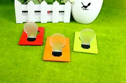 Wholesale Energy Saving Lamp Cup - Free shipping creative energy-saving night light bedside lamp night light night luminous card is not inserted battery lamp