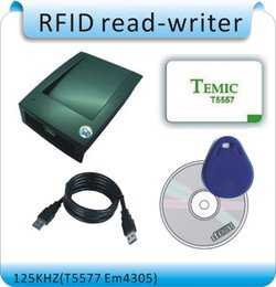 Wholesale Copier Software - Free shipping easyer Avoid driver 125kHZ RFID T5577 EM4305 access control card copier USB port English software +10 pcs cards
