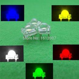 Wholesale Dome Light Kit - 500 X 5mm Piranha Super Flux LED=100 EACH Red Green Blue White Yellow Leds kit 4 Pin Dome Wide Angle Light Lamp For Car Light