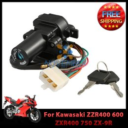 2019 llave kawasaki Llave de interruptor de encendido para Kawasaki ZZR400 600 ZXR400 750 ZX-9R ZX-7R ZX-7RR Orden de motocicleta $ 18no pista llave kawasaki baratos