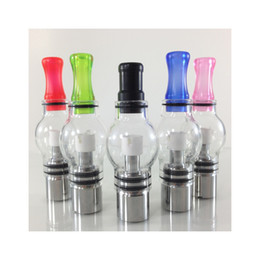 Hierba seca bulbo e cigarrillo online-Wax Glass Bulb Atomizer Tank Vaporizador Glass Globe para Wax Dry Herb E Cigarrillo Glassomizer con colores consejos 510 hilo